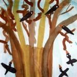 Baum mit Raben