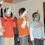 Gogoch spitze Steine Masken