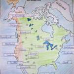 Indianer Landkarte