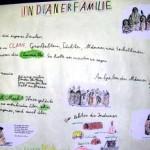 Indianer Plakat Familie