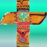 Indianer Totem orange