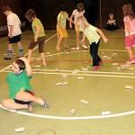 Koordi 1. Rollen auf dem Boden