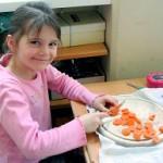 gesund Karotte schneiden